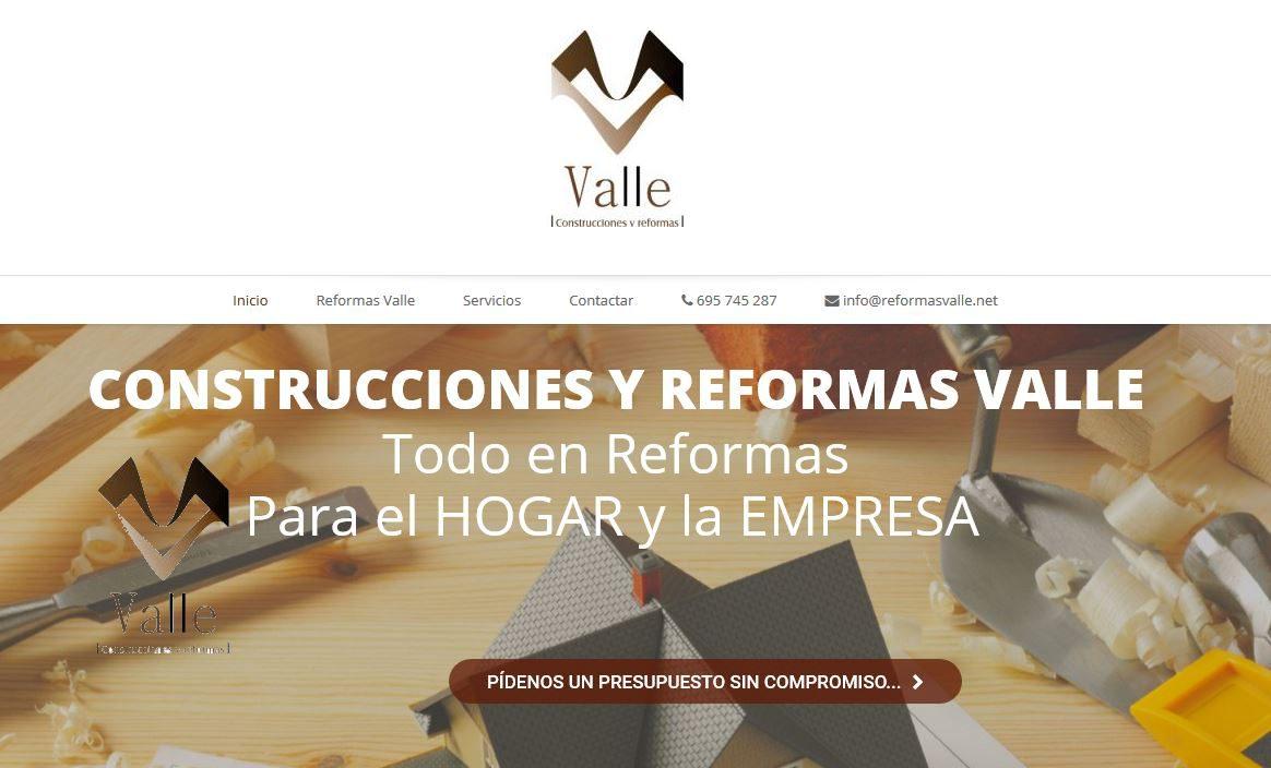 Nueva Web de Reformas Valle
